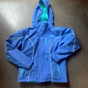 Womens The North Face TNF Blue Green Hyvent Jacket